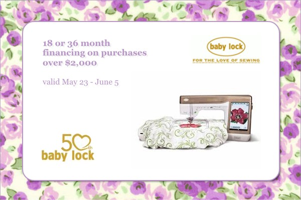 Baby Lock Monthly Promotion