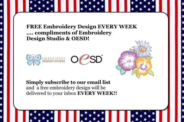 Free Embroidery Designs Every Week