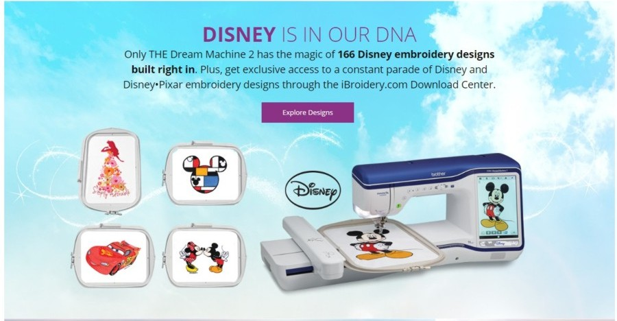 Brother Dream Machine II Disney Designs