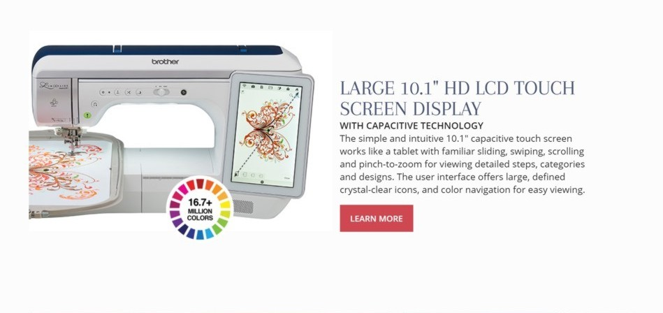 Brother Luminaire Innov-is XP1 LCD Screen Display