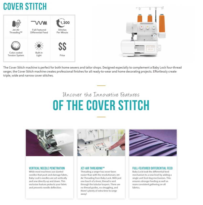 Baby Lock Cover Stitch
